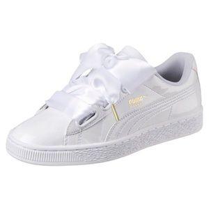 Puma Shoes | Puma White Ribbon Sneakers